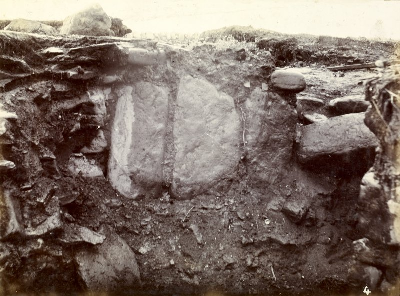 Photograph of White Gate Broch, large stones in wall.