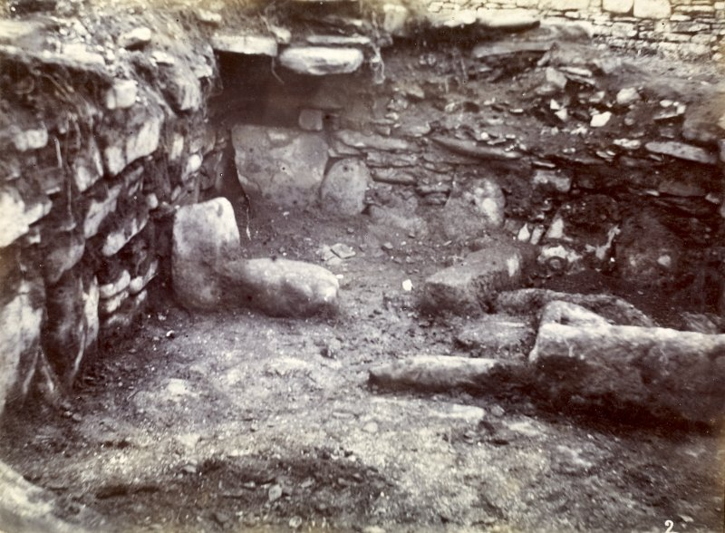 Photograph of White Gate Broch, interior of outside habitation.