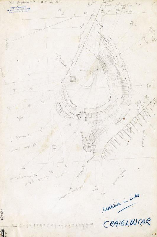Survey drawing; fort, Craigluscar.