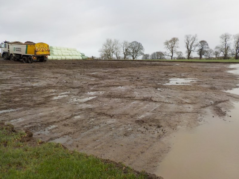Watching brief, Topsoil strip complete, Ochiltree Place Farm, Linlithgow