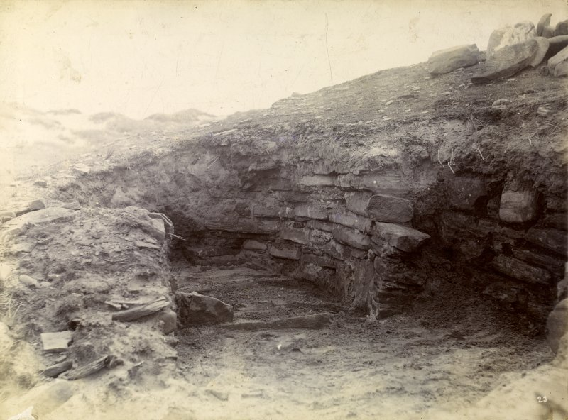 Photograph of Keiss Wester Broch. Outside habitation.