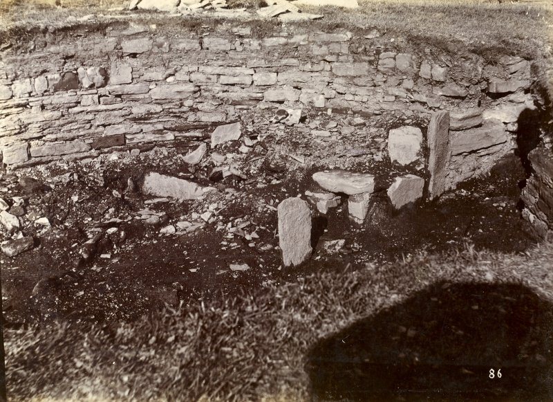 Photograph of Nybster Broch showing entrance passage.