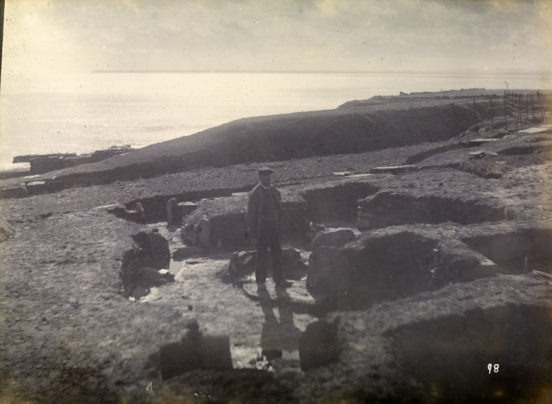 Photograph of Nybster Broch, outside habitation.