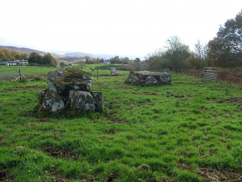 Watching brief, Achnacreebeag chambered cairn from W, Achnacreebeag, North Connel