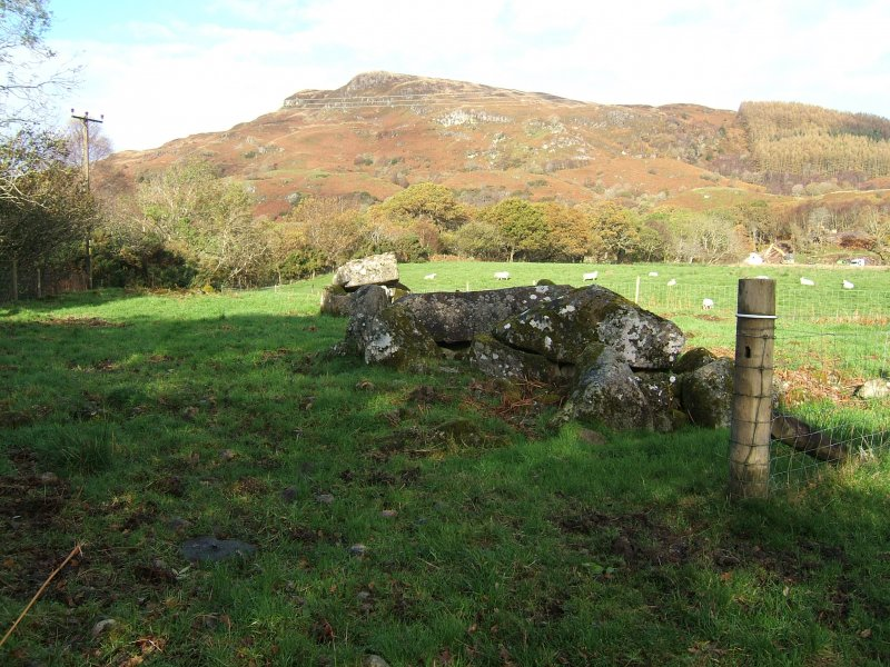 Watching brief, Achnacreebeag chambered cairn from SE, Achnacreebeag, North Connel