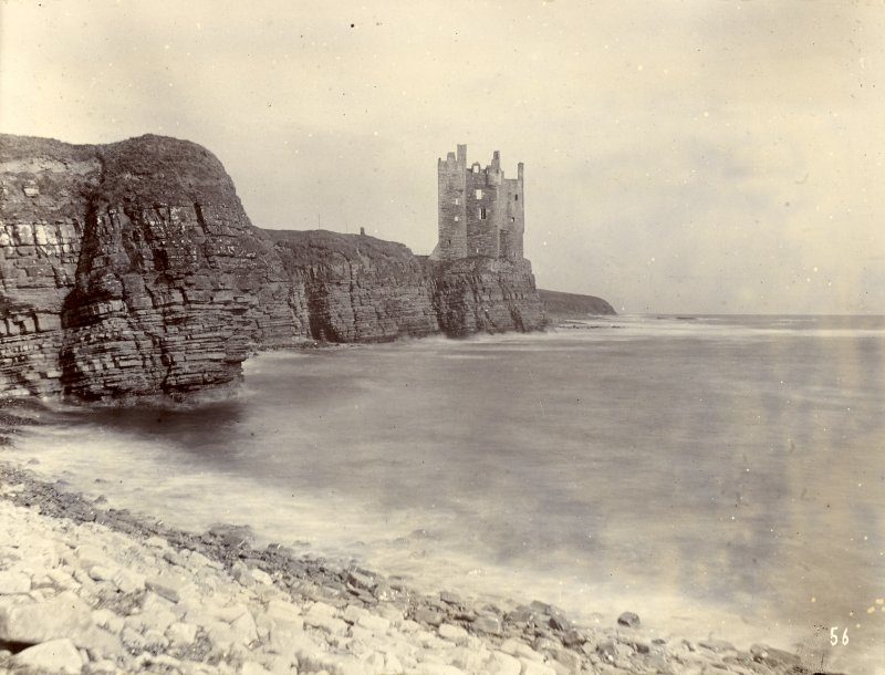 Photograph, distant view of Old Keiss Castle.