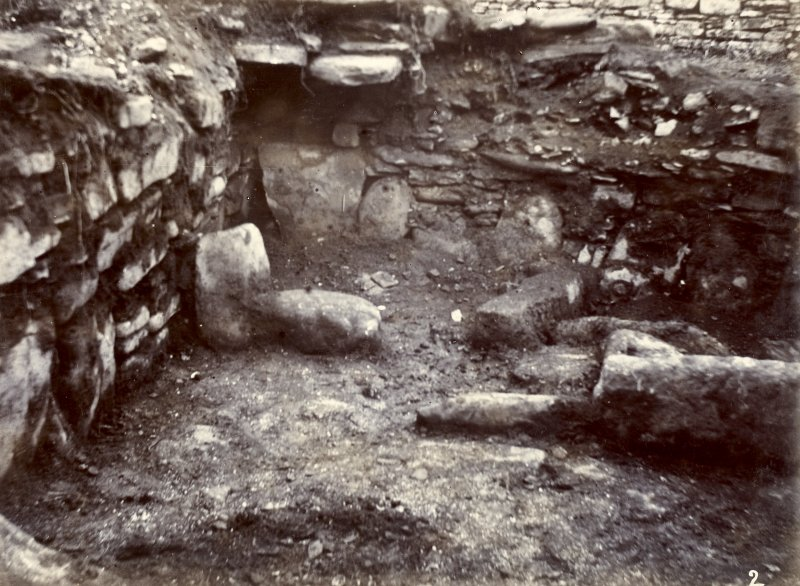 Photograph, Keiss White Broch, interior view of outside habitation.