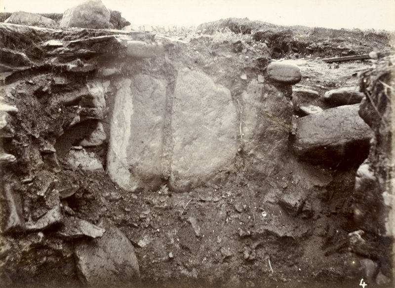 Photograph, Keiss White Broch, large stones in wall of outside habitation.