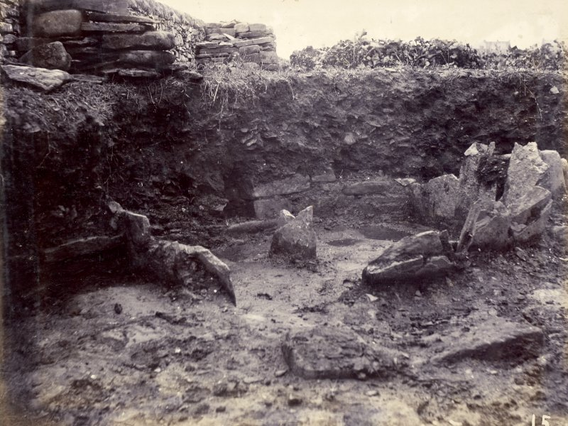 Photograph, interior of Keiss White Broch.