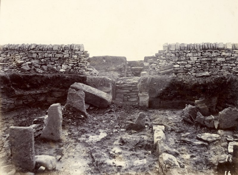 Photograph, interior view of entrance to Keiss White Broch.