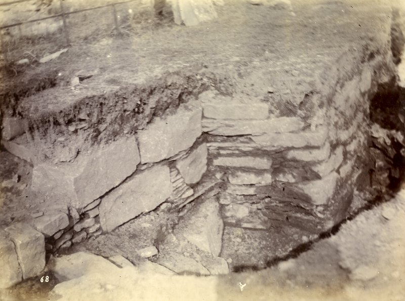 Photograph, Keiss Road Broch, commencement of encircling wall.