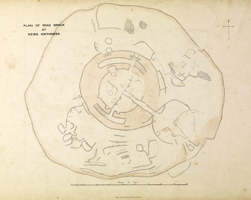 Drawing, Plan of Road Broch at Keiss, Caithness.