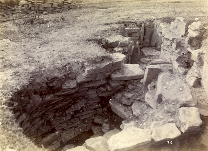 Photograph, Keiss Road Broch, underground habitations outside.