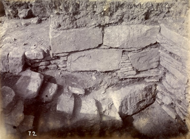 Photograph, Keiss Road Broch, corner of encircling wall.