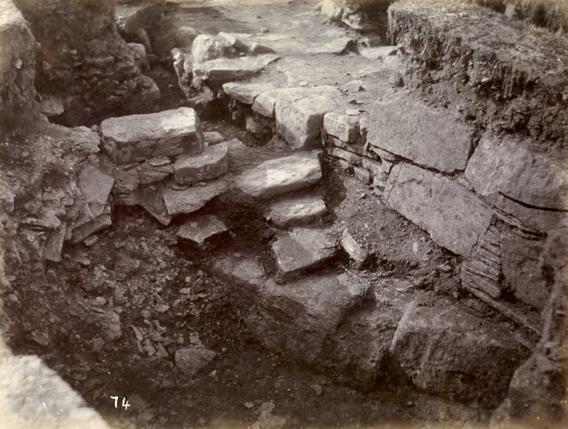 Photograph, Keiss Road Broch, entrance encircling wall.