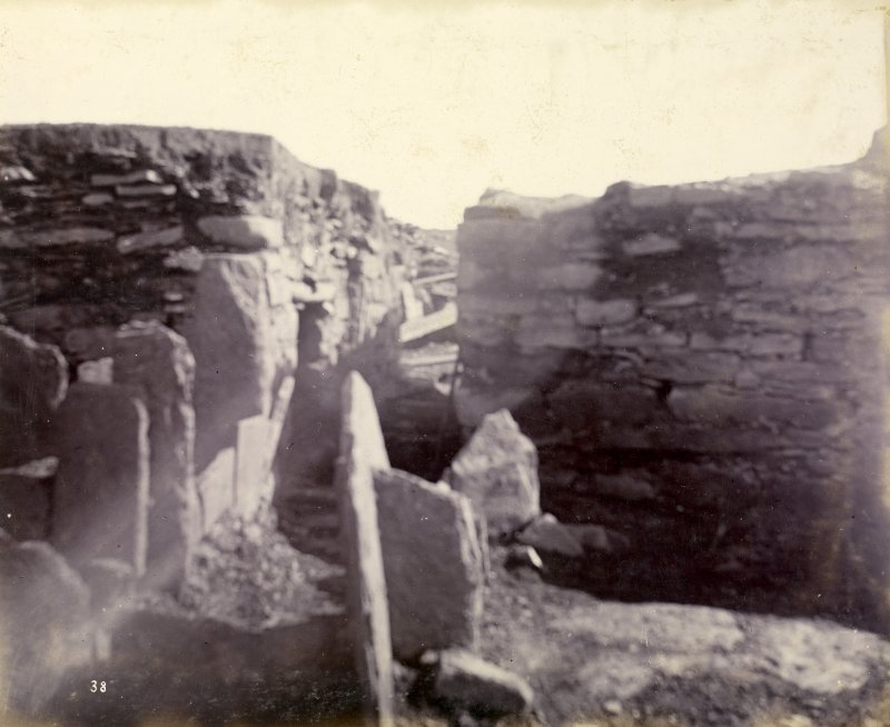Photograph, Keiss Road Broch, interior view of entrance passage.