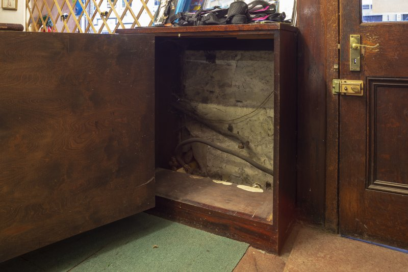 Coldstream, 81 High Street. Interior. Detail of display cabinet with false back.