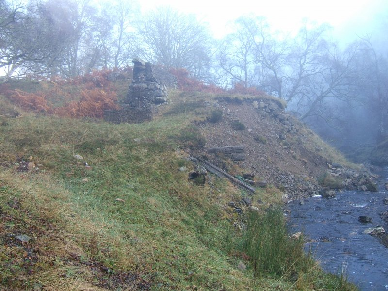 Walkover survey, Remnants of structures probably associated with an earlier hydro scheme from S, Hydro-Electric Scheme, Culachy Estate, Fort Augustus