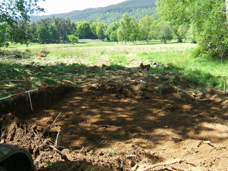 Watching brief, Trench for sub-station 3 from SE, Taymouth Castle, Kenmore