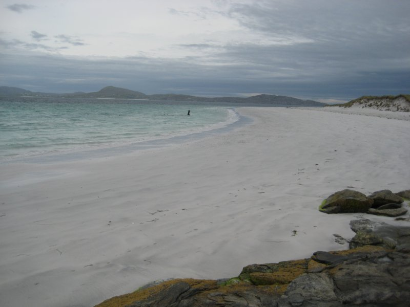 Archaeological survey, General view with wreck near the tide line, Wreck on the Island of Fuday, Barra