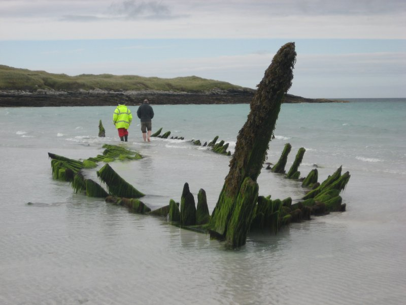Archaeological survey, General view of the wreck, Wreck on the Island of Fuday, Barra