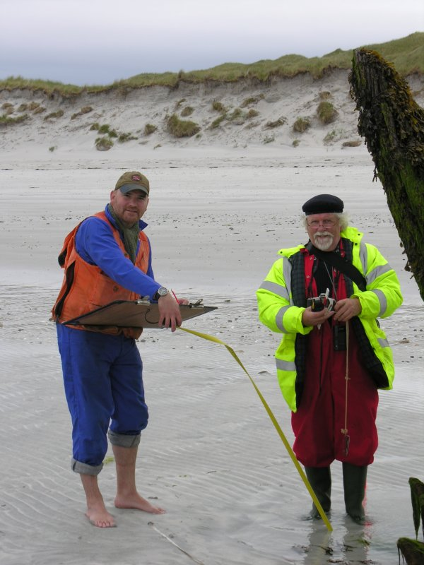 Archaeological survey, Working shot, Wreck on the Island of Fuday, Barra