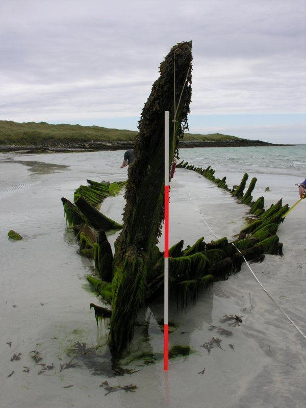 Archaeological survey, Detail view of wreck, Wreck on the Island of Fuday, Barra