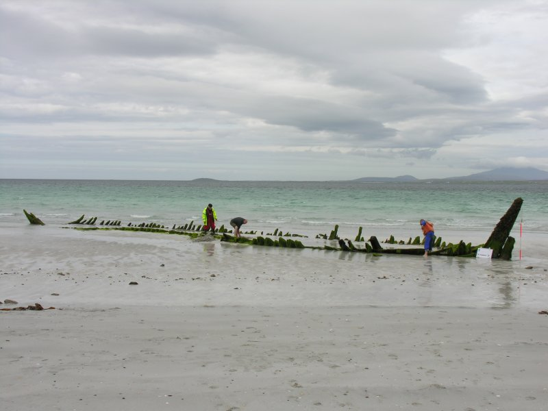 Archaeological survey, General view of wreck, Wreck on the Island of Fuday, Barra