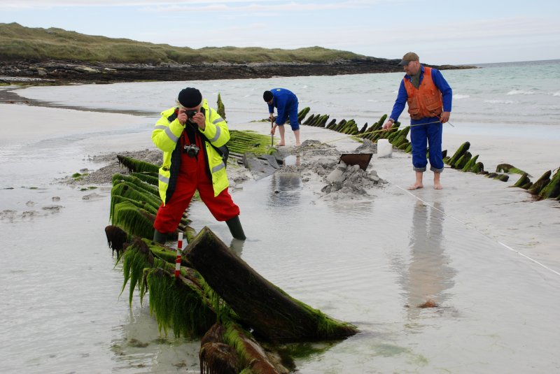 Archaeological survey, Working shot within the wreck, Wreck on the Island of Fuday, Barra