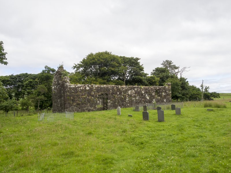 Eigg, Kildonan Church. View from S.