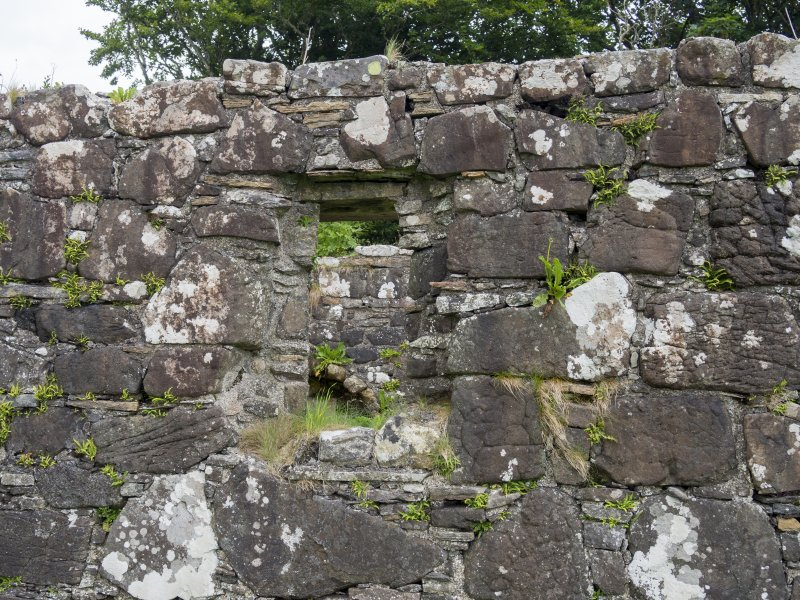 Eigg, Kildonan Church. Detail of S window, from which the margins have been robbed.