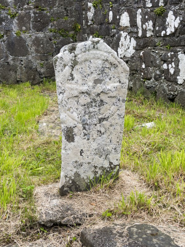 Eigg, Kildonan Church. Interior. Detail of early medieval cross-slab (5).