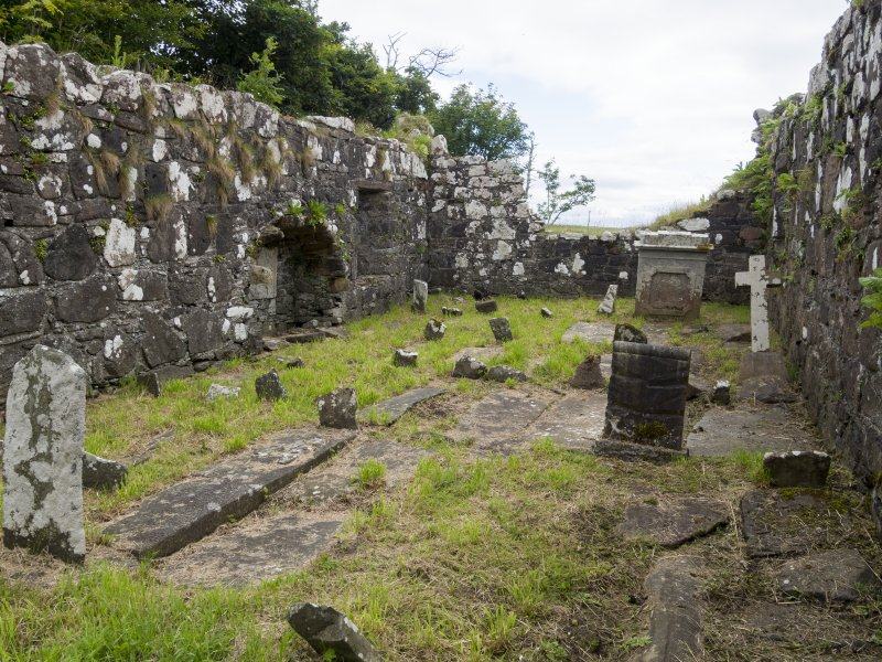 Eigg, Kildonan Church. Interior. View from W.