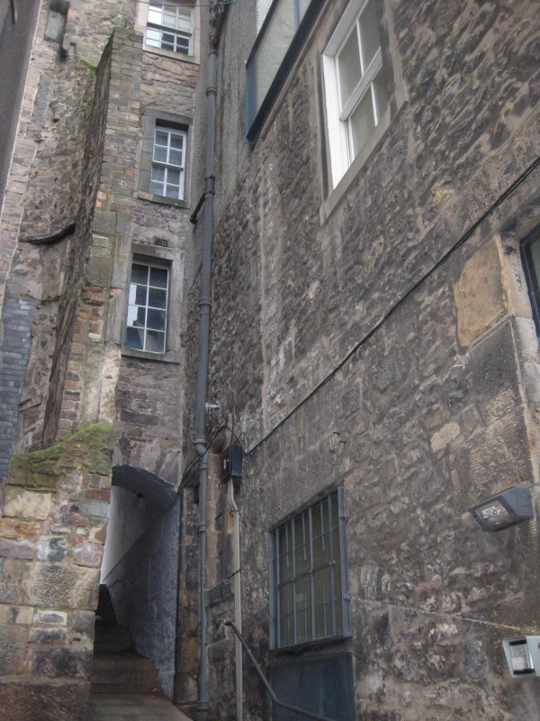 Standing building recording, Exterior view of building, 343 High Street, Edinburgh