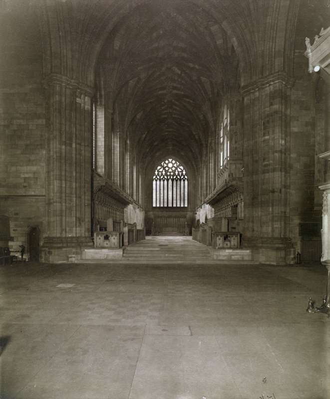 Interior view of Paisley Abbey.
