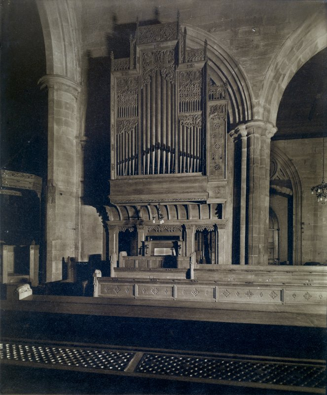 Interior view of St John's Church, Perth, showing organ case.