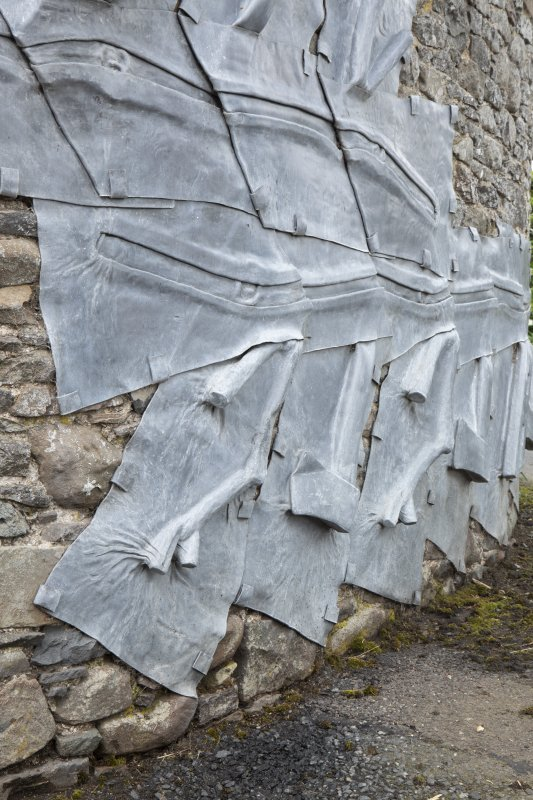 Detail of sculpture by Charles Poulson at stables workshop at The Steading, Nether Blainslie.