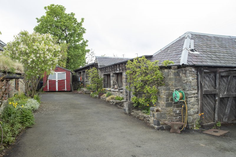 View from south-east showing stables workshop at The Steading, Nether Blainslie.