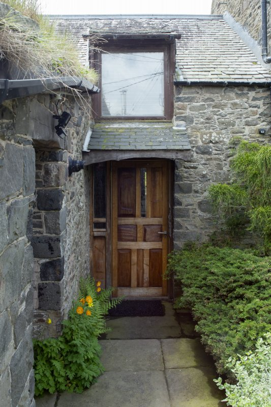 View of entrance door to house at The Steading, Nether Blainslie.