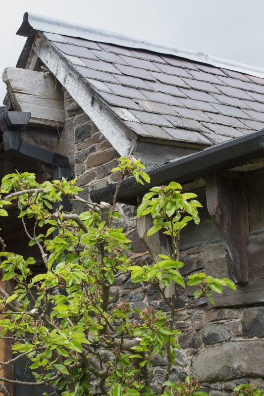 Detail of roof to stables workshop at The Steading, Nether Blainslie.