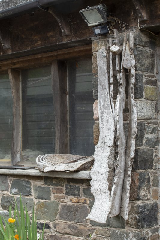 Detail of sculpture on stables workshop at The Steading, Nether Blainslie.