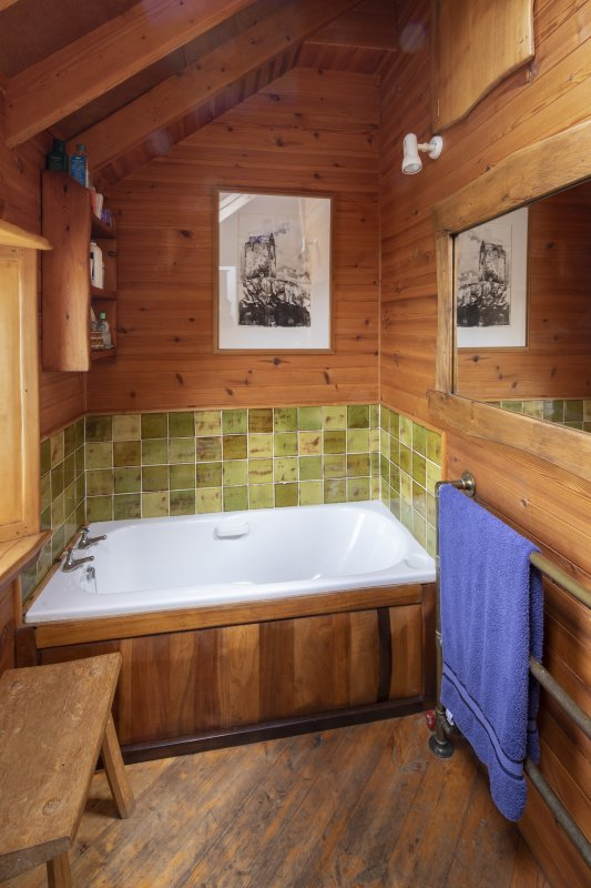 Interior view showing bathroom on first-floor of house at The Steading, Nether Blainslie.