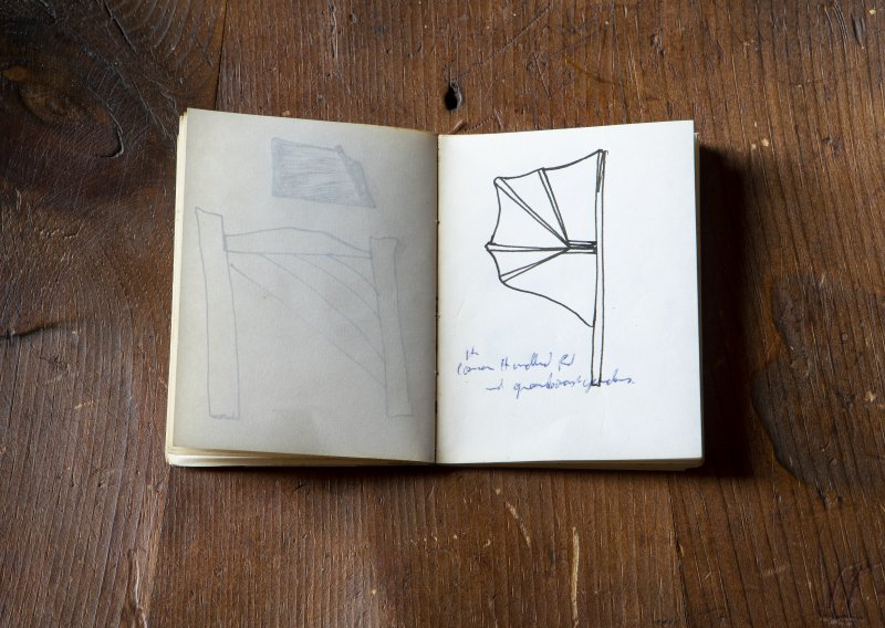 Sample detail of notebook by Tim Stead at The Steading, Nether Blainslie.