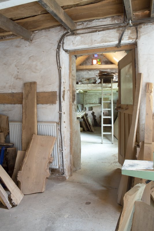 Interior view of workshop at The Steading, Nether Blainslie.