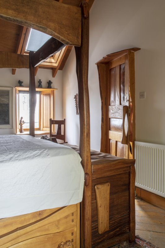 Interior view of Bedroom One on first floor of house at The Steading, Nether Blainslie.