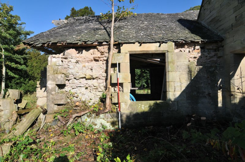 Standing building recording, External S-facing elevation of the N block, Allanbank, Duns, Scottish Borders