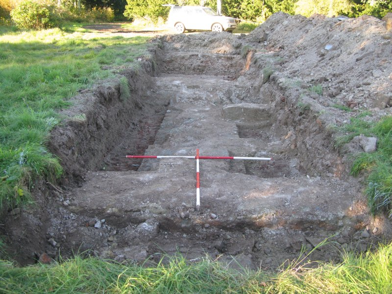 Archaeological evaluation, Trench 6 general shot, Allanbank, Duns, Scottish Borders