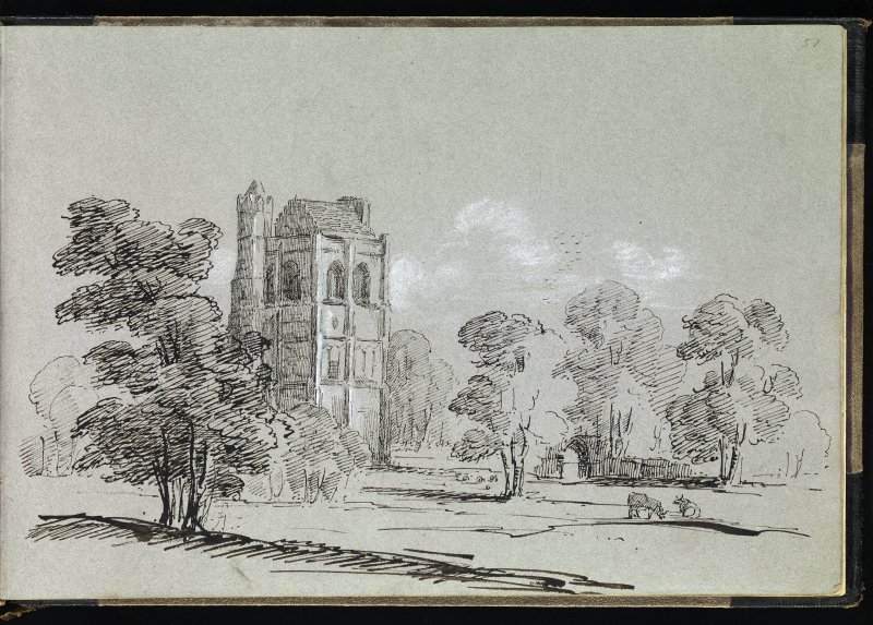 Drawing of Cambuskenneth Abbey