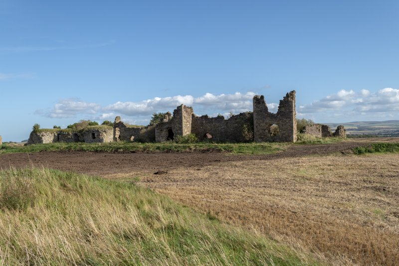 Barnes Castle, exterior. View from NW.