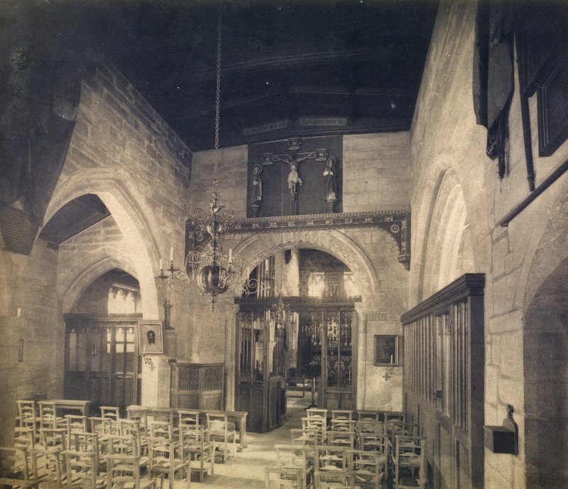 View of unidentified church interior.